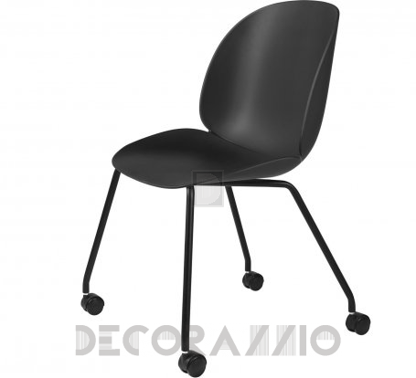 Кресло офисное Gubi Beetle Meeting Chair - 4LegsCastors_Unupholstered_Black