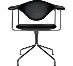 Офисное кресло Gubi Masculo Meeting Chair, BlackChrome_BlackLeather