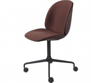 Офисное кресло Gubi Beetle Meeting Chair, 4StarCastors_Black_DarkPink
