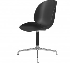Офисное кресло Gubi Beetle Meeting Chair, 4StarSwivel_Alu_Black