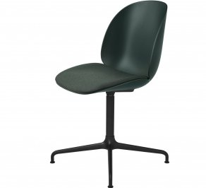 Офисное кресло Gubi Beetle Meeting Chair, 4StarSwivel_Black_Green_Messenger