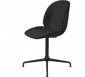 Офисное кресло Gubi Beetle Meeting Chair, 4StarSwivel_Black_Remix-Black