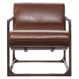 Стул Boda Lounger Brown Leather