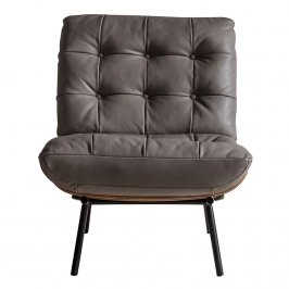 Стул Riccia Lounger Grey Leather